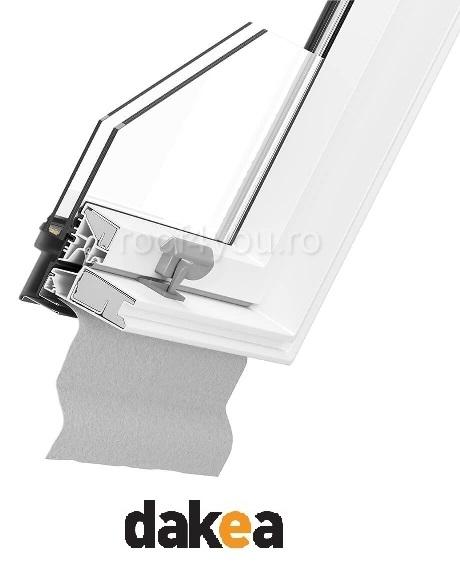 Fereastra de mansarda 55/78 DAKEA KPV1000 Better Safe PVC 1