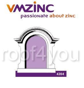 Fereastra lucarna standard VMZINC, golul de fereastra 0.90 x 0.55 m,  inaltime 1.27 m, latime 1.17, Model 4204 0
