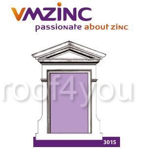 Fereastra lucarna standard VMZINC, golul de fereastra 1.40 x 1.15 m,  inaltime 2.24 m, latime 1.88, Model 3015 0