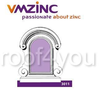 Fereastra lucarna standard VMZINC, golul de fereastra 0.90 x 0.70 m,  inaltime 1.50 m, latime 1.37, Model 3011 0