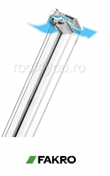 Fereastra mansarda  55/98  PPP -V U3 Fakro cu dubla deschidere [2]