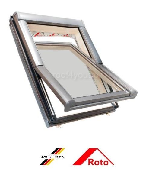 Fereastra mansarda Roto Designo R49 Standard Plus, 54/78 , toc din pvc, izolatie WD, geam triplu 0
