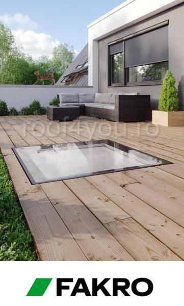 Fereastrele circulabile pentru acoperis terasa Fakro DXW  DW6  60/60 1