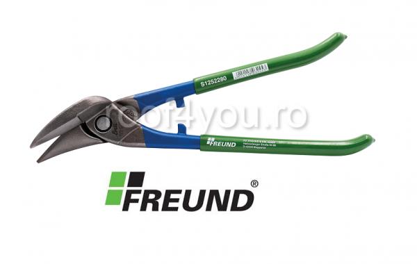 Foarfeca taieri drepte pe dreapta, 280 mm, PVC, verde, Freund 0