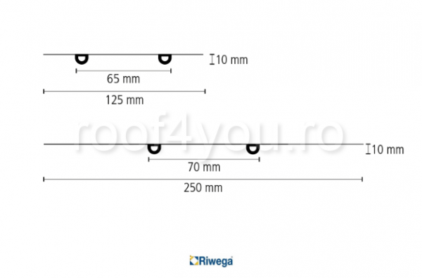 Banda de etansare GAE ST Riwega, 250 mm 2