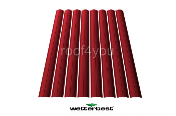 Şipcă de gard metalică, WETTERBEST, Lucios grosime 0.45 mm, RAL 3011 0