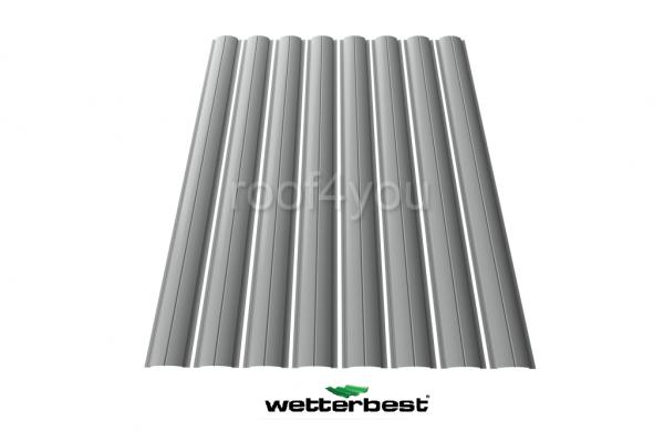 Şipcă de gard metalică, WETTERBEST, Lucios grosime 0.5 mm, RAL 9006 0