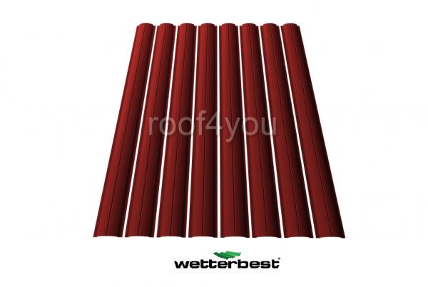 Şipcă de gard metalică, WETTERBEST, Lucios grosime 0.4 mm, RAL 3009 0
