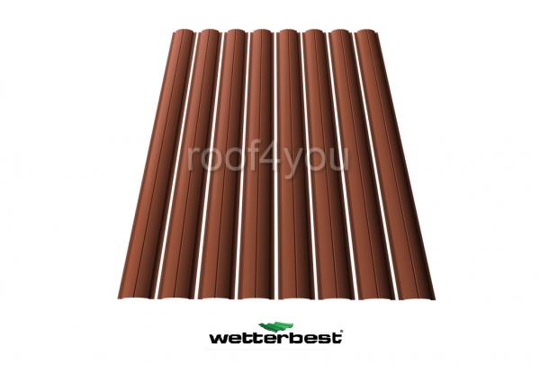 Şipcă de gard metalică, WETTERBEST, Mat grosime 0.45 mm, RAL 8004 0