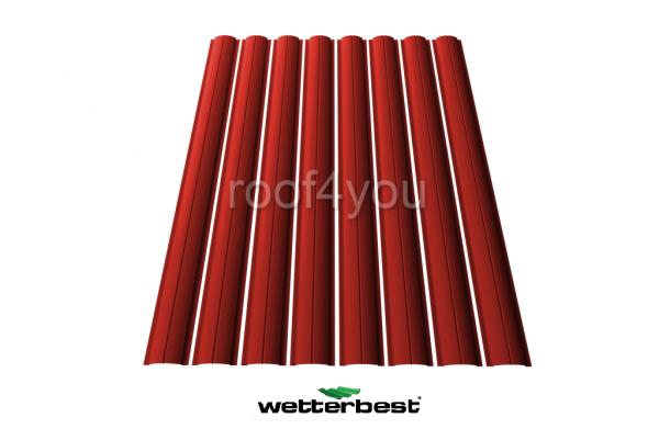 Şipcă de gard metalică, WETTERBEST, Lucios grosime 0.4 mm, RAL 3000 0