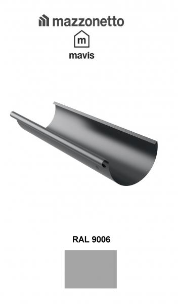 Jgheab semicircular Ø150 ( 2-3-4-ml), Burlan Ø100, Otel Mazzonetto Mavis, RAL 9006 0