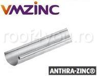 Jgheab semicircular Ø125 titan zinc Anthra Vmzinc 1