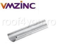 Jgheab semicircular Ø125 titan zinc natural Vmzinc 1