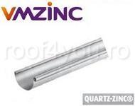 Jgheab semicircular Ø125 titan zinc Quartz Vmzinc 0