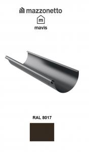 Jgheab semicircular Ø150 ( 2-3-4-m), Burlan Ø100, Otel Mazzonetto Mavis, RAL 8017 0