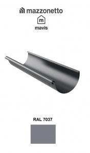 Jgheab semicircular Ø150 ( 2-3-4-ml), Burlan Ø100, Otel Mazzonetto Mavis, RAL 7037 [0]