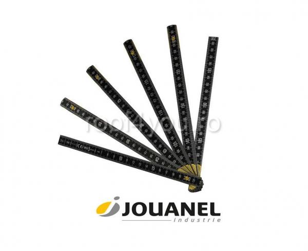 Metru pliant din Dural, cu gradatie care nu se sterge, 1 m, finisaj negru, Jouanel 0