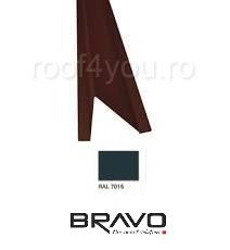 Opritor zapada Lucios BRAVO  0,45 mm / RAL 7016  latime 208 mm 0