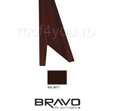 Opritor zapada Structurat BRAVO  0,40 mm / RAL 8017  latime 208 mm 0