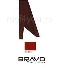Opritor zapada Structurat BRAVO  0,50 mm / RAL 3011  latime 208 mm 0