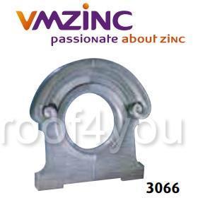 "Ornament lucarna standard ""bull's eyes"" VMZINC, golul de fereastra Ø 0.6 m,  inaltime 1.23 m, latime 1.23 m, Model 3066 0"