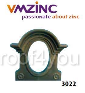 "Ornament lucarna standard ""bull's eyes"" VMZINC, golul de fereastra 0.8 x 0.6 m,  inaltime 1.21 m, latime 1.27 m, Model 3022 0"