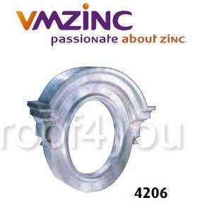 "Ornament lucarna standard ""bull's eyes"" VMZINC, golul de fereastra 0.65 x 0.50 m,  inaltime 1.07 m, latime 1.11, Model 4206 0"