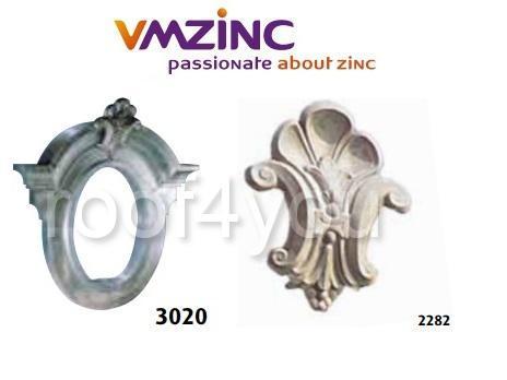 "Ornament lucarna standard ""bull's eyes"" VMZINC, golul de fereastra 0.7 x 0.5 m,  inaltime 1.13 m, latime 1.16 m, Model 3020 0"
