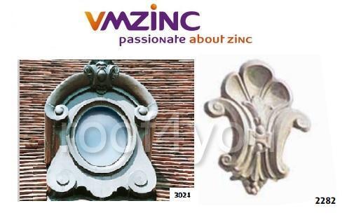 "Ornament lucarna standard ""bull's eyes"" VMZINC, golul de fereastra 0.9 x 0.6 m,  inaltime 1.48 m, latime 1.16 m, Model 3024 0"
