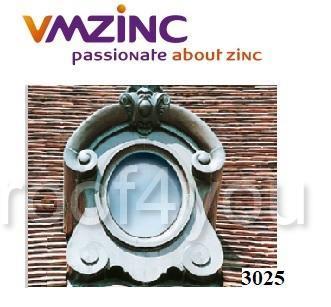 "Ornament lucarna standard ""bull's eyes"" VMZINC, golul de fereastra 0.65 x 0.5 m,  inaltime 1.18 m, latime 1 m, Model 3025 0"