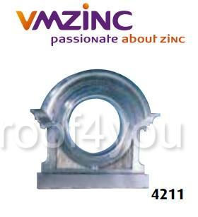 "Ornament lucarna standard ""bull's eyes"" VMZINC, golul de fereastra Ø 0.50 m,  inaltime 1.08 m, latime 1.16, Model 4211 0"