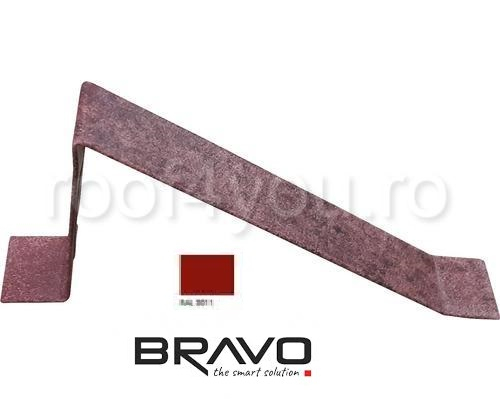 Parapezi Lucios BRAVO  0,45 mm / RAL 3011  latime 701 mm 0