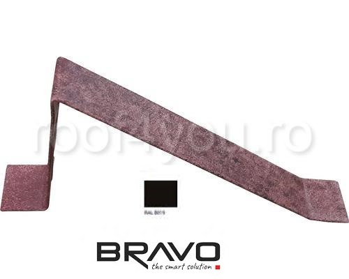 Parapezi Structurat  BRAVO  0,45 mm / RAL 8019  latime 701 mm 0