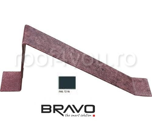 Parapezi Structurat  BRAVO  0,50 mm / RAL 7016  latime 701 mm 0