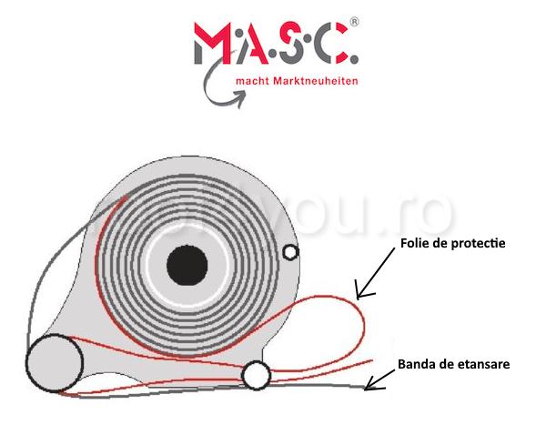 DIspozitiv de aplicat banda de etansare MASC , 320 mm x 75 mm x 270 mm 2
