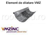 Piesa dilatare jgheab 333mm titan zinc natural Vmzinc 1