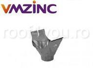 Racord jgheab burlan Ø 80 titan zinc natural Vmzinc 1
