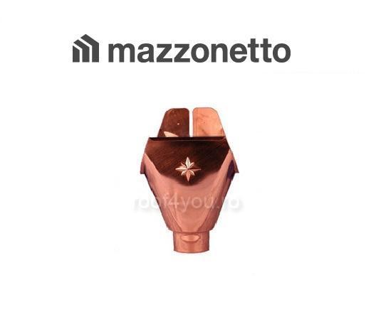 Racord jgheab-burlan din cupru cu grosimea de 0.5mm si diametrul de 150mm (333mm desfasurat) 0
