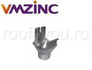 Racord jgheab burlan rectangular 400mm titan zinc natural Vmzinc 1