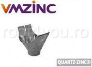 Racord jgheab burlan semirotund Ø120 titan zinc Quartz Vmzinc 1