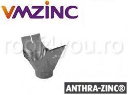 Racord jgheab burlan semirotund Ø80 titan zinc Anthra Vmzinc 1
