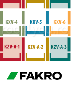 Rama de etansare combi FAKRO KXV (4,5,6)  55/78 pentru invelitori ondulate [1]