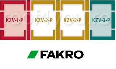 Rama de etansare combi FAKRO KZV (1,2,3)  55/78 pentru invelitori ondulate [1]