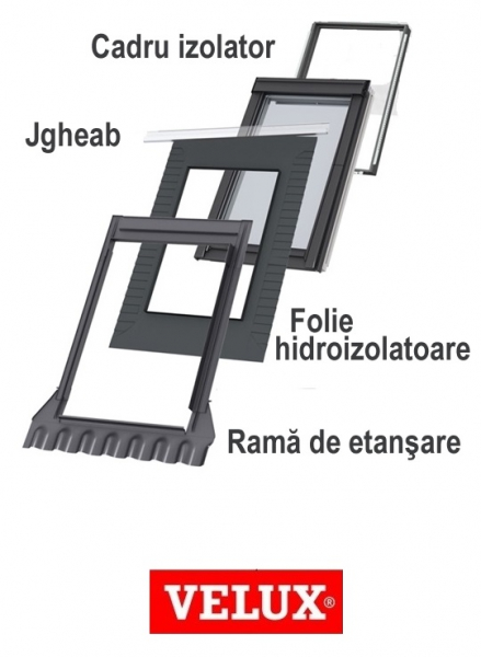 Rama Velux EDW 2000, 66/98- pentru invelitori ondulate 1