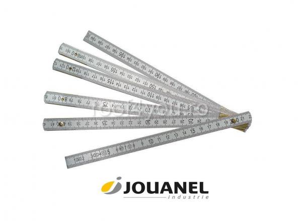 Metru pliant din Dural, cu gradatie care nu se sterge, 2 m, Jouanel 0