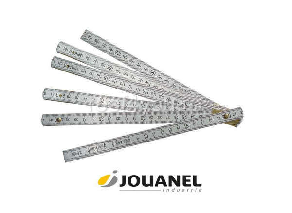 Metru pliant din Dural, cu gradatie care nu se sterge, 1 m, Jouanel 0