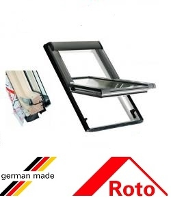 Ferestre mansarda Roto R45, 54/78, toc din lemn, deschidere mediana, geam dublu 0