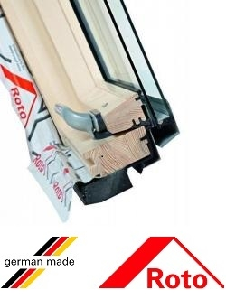 Fereastra mansarda Roto R45, 54/78, toc din lemn, izolatie WD, deschidere mediana, geam dublu 2