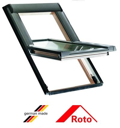 Ferestre mansarda Roto R45, 54/78, toc din pvc, deschidere mediana, geam dublu 0