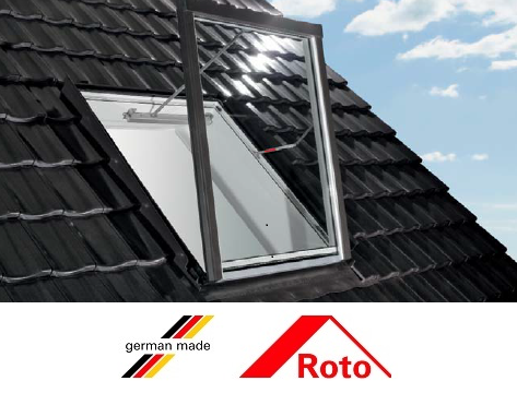 Roto R58, 65/140, toc din pvc, izolatie WD, deschidere verticala, geam dublu [2]